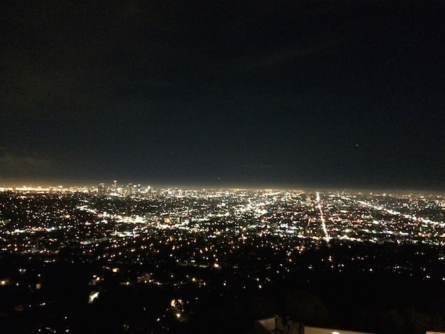 LA view in night
